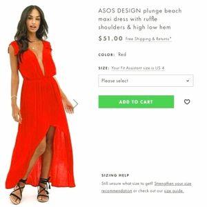 NEW ASOS DESIGN maxi dress: size 4